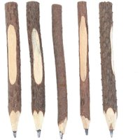 5pcs Vintage Wooden Environmental School Office Supply Pencils