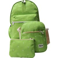 Canvas Korean School Female Cute Three-Piece Backpack Spots