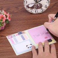 Cartoon Sticky Note Post Self-Adhesive Memo Pad School Supplies(Black)