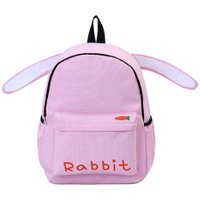 Casual Preppy Chic Girls Canvas Backpack Rabbit Shape School Backpack