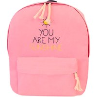 Fashion Canvas Letter Printing Backpack Preppy Style School Bag