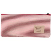 Korean Canvas Stripe pen Bag Storage Cosmetic Stationery Case School Supply