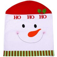 Non-woven Christmas Chair Cover Home Dining Table Dinner Decoration Decorative Ornament for Home School Hotel