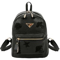 Zipper Backpack Women Fashion Small PU Leather Girs Travel Casual Schoolbag